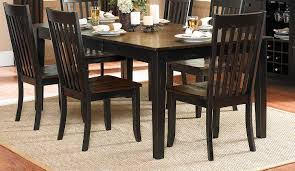 Two Toned Dining Room Sets Outstanding Black Brown Dining Table Design Ideas Dining Room