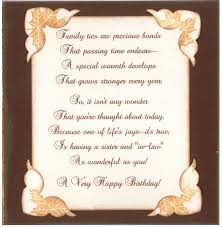 Best Wishes For Birthday To My Sister Nice In Law Words A ...