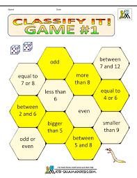 Math Games Worksheetskindergarten math games classify it 1
