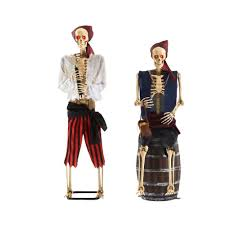Home Accents Holiday 5 ft. Animated LED Pirate Skeletons (<b>Set of 2</b> ...