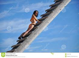 w climbing up the ladder stock image image  w climbing up a wooden ladder stock photo