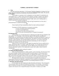 lab report outline science lab report template school ideas another formal lab report format