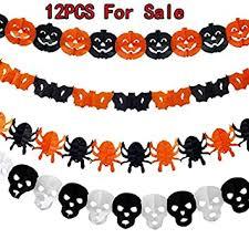 <b>Halloween</b> Paper Chain Garland <b>Decoration</b> Pumpkin <b>Bat</b> Ghost ...