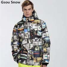 Gsou Snow <b>brand mens ski suit</b> Snowboard <b>ski jacket men</b> winter ...