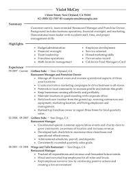 sample resume restaurant manager sample resume cover sample resume restaurant manager restaurant owner resume sample samples for job restaurant owner resume sample