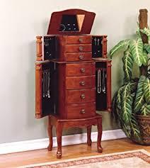 powell classic cherry jewelry armoire amazoncom antique jewelry armoire