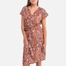 <b>Платье La Redoute Прямое с</b> принтом под кашемир миди 50 (FR ...