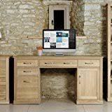 baumhaus mobel oak twin pedestal computer desk baumhaus hidden home office