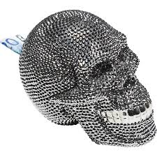 "<b>Копилка Skull</b> Crystal, коллекция ""Череп с кристаллами"" 14*16*21 ..."