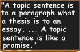 topic sentence   definition examples and guidelines morton a miller reading and writing short essays random house