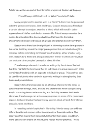 essay for friend essay on friend