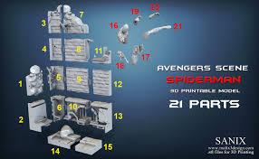 <b>3D</b> Printed <b>Avengers</b> scene - <b>SPIDERMAN / 3D</b> Printable Model by ...