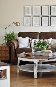 cottage chic living room cottage living room with leather couch chic living room leather