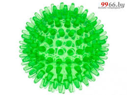 <b>Мяч массажный ZooOne Crystal</b> 8cm Transparent Green 580C-1 ...