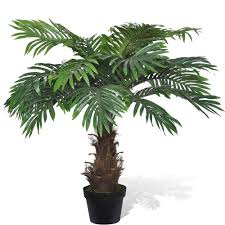 Home & Garden Floral Décor 7' <b>Artificial Phoenix Palm Tree</b> in Pot ...