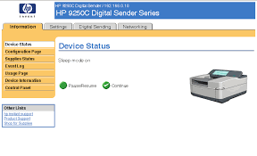 <b>HP</b> 9250C <b>Digital Sender HP</b> Embedded Web Server User Guide
