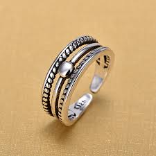 Retro <b>Vintage 925 Sterling Silver</b> Hand Open Finger Open Rings for ...