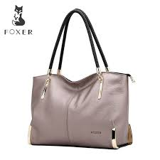 <b>Foxer Brand Women'S Cow</b> Leather Handbags Female Shoulder ...