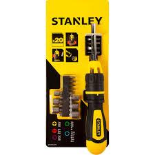 <b>Отвёртка со сменными</b> битами Stanley с храповым механизмом ...