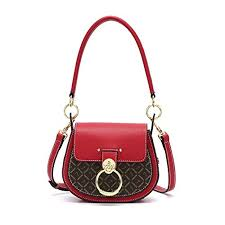 Crossbody <b>Saddle Handbag</b> Chic Ring Small Flap Satchel Shoulder ...