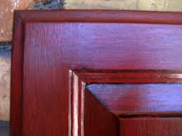 Painted Glazed Kitchen Cabinets Red Painted Furniture Black Glazing Red Cabinets With Black