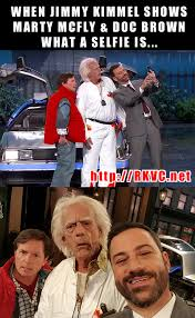 Back to the Future Crashes Jimmy Kimmel - Meme the News via Relatably.com