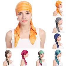 Fashion Bright Color <b>Cotton</b> Tail Women <b>Headwear Muslim</b> Hijab ...