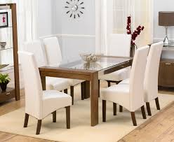 round glass extendable dining table:  extendable glass dining tables dining table rochelle walnut amp glass dining table cm amp  marcello ivory dining chairs