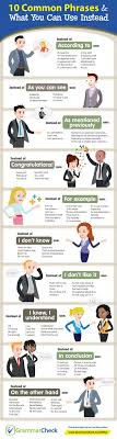 best ideas about common phrases vocabulary 10 common phrases what you can use instead infographic