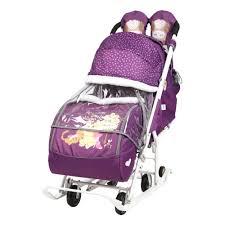 <b>Санки</b>-<b>коляска Ника Disney</b> Baby 2 (Винни Пух Баклажановый ...