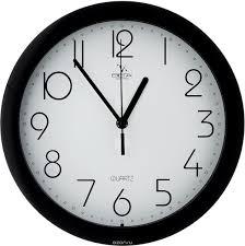 """<b>Часы настенные Вега</b> """"Классика"""", цвет: черный, белый, диаметр ..."""