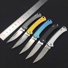 <b>Sanrenmu</b> 4112 Small Folding Knife <b>Lightweight</b> Pocket Size Mini ...