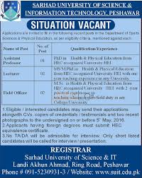 sarhad university of science information technology peshawar sarhad university jobs
