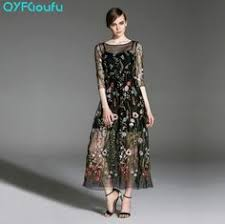 <b>runway dresses 2017 women</b> high quality