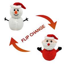 2020 New Flip Snowman <b>Santa</b> Claus Doll Reversible Plush <b>Toy</b> ...