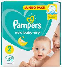 <b>Pampers подгузники New</b> Baby Dry 2 (4-8 кг) 94 шт. — купить по ...