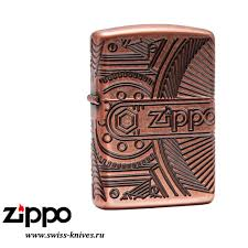 <b>Зажигалка</b> широкая Zippo <b>Armor Gears</b> Antique Copper 29523 ...