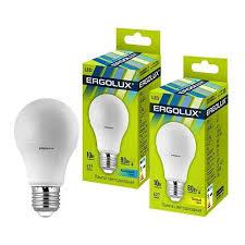 <b>Светодиодная лампа Ergolux</b> ЛОН <b>A60</b> E27 <b>10W</b>(910lm 270°)