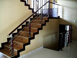 railing tangga minimalis modern: Desain railing tangga stainless steel dan kaca minimalis rumah