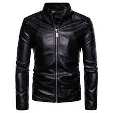 Leather Jacket Men <b>2018 Autumn Winter New</b> Style Fashion Black ...
