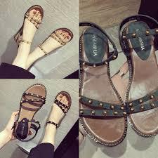<b>2018 Hot Sale Women</b> Shoes Summer Beach Flatforms Ankle Strap ...