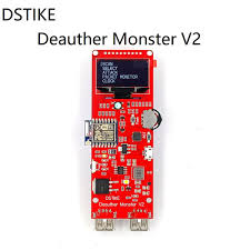 dstike deauther wristband wifi attack control test tool esp 07 1 3oled 600mah battery rgb led no pb esp8266 development board