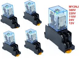 5PCS MY2P HH52P MY2NJ <b>AC220V 110V DC24V 12V</b> coil general ...