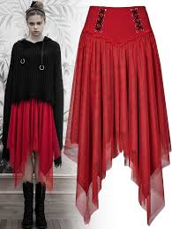 <b>Nebulae</b> red <b>skirt</b> OPQ-414/RD Punk Rave | Fantasmagoria.shop ...