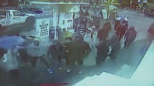 Caught on Camera: Students from rival schools brawl at gas station ...