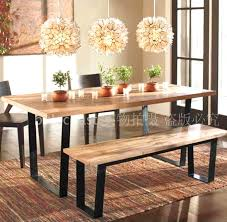 wrought iron vintage wood wood table desk bench nordic american country style dinette american country wrought iron vintage desk