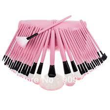 2016new makeup cosmetic brush kit 32pcs pink brush set leather case 32 pcs makeup brush toiletries tools