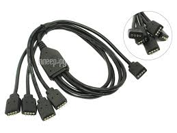 Купить <b>Кабель Akasa RGB LED</b> Splitter Cable 1 to 4 50cm AK ...