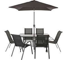 patio table and 6 chairs: buy sicily  seater patio set at argoscouk visit argos
