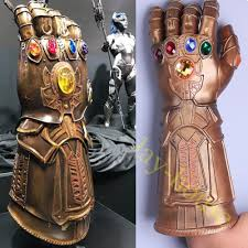 <b>Cosplay Infinity Gauntlet Avengers</b> Infinity War Thanos Gloves Gold ...